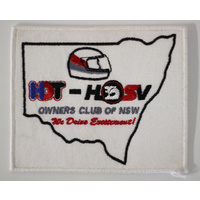 White HDT/HSV Owners Club Cloth Patch