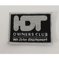 Black HDT Owners Club Cloth Patch