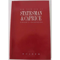 Holden VQ Series 2 Caprice / Statesman Owners Handbook