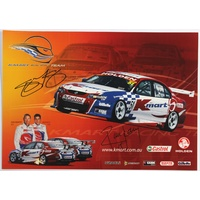 Kmart Racing Team Signed Poster
