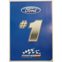 #1 Ford Poster - Sydney 500 2009