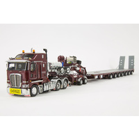 Burgundy K200 & 7x8 Steerable Trailer