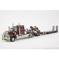 Burgundy C509 & 7x8 Steerable Trailer