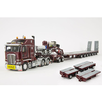 Burgundy K200 Prime Mover with 7x8 Steerable Trailer & Accessory Kit