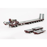 Burgundy 7x8 Steerable Trailer with Accessory Kit