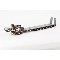 Burgundy 7x8 Steerable Trailer