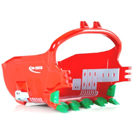 1:50 Mining Dragline Excavator Bucket Red