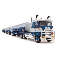 1:64 Tanker Road Train & Extra Dolly - Blue