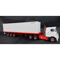 1:50 Mack F700 With Trailer & Container - White
