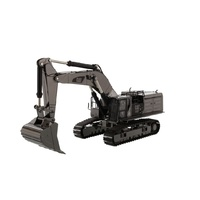 1:50 Cat 390F L Hydraulic Excavator - Gunmetal Finish