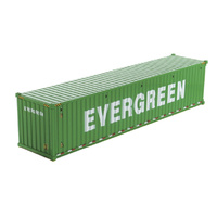 1:50 40' Dry Goods Sea Shipping Container - Evergreen
