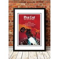 Meatloaf 'Bat Out Of Hell' Poster 1977