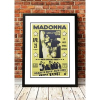 Madonna / Beastie Boys / Run DMC 'Like A Virgin' Tour Poster 1985