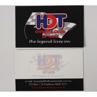HDT Owners Club of NSW Business Card
