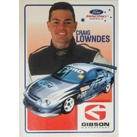 Craig Lowndes Gibson Motorsport Driver Info Card