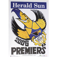 West Coast Eagles AFL 2006 Premiers Poster