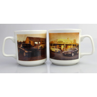 Pair of Holden FX & VT Commdore Mugs