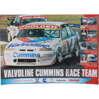 Signed Richards & Bargwanna Valvoline Cummins Race Team Poster