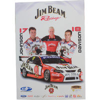Jim Beam Racing Poster - Steve Johnson & Will Davison