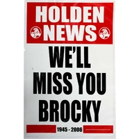 Holden News We'll Miss You Brocky Laminated Poster