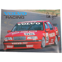 Signed Peter Brock Volvo Racing Poster