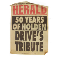 50 Years of Holden, News Letter Cover Page