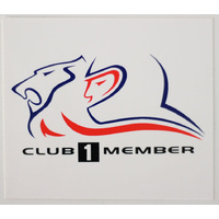 HRT Club 1 Member Sticker