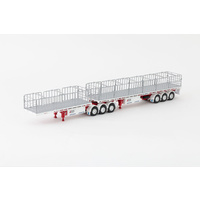 1:50 Freighter B Double Flat Top Trailers - Betts Bower
