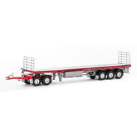 Road Train Set - Silver & Red