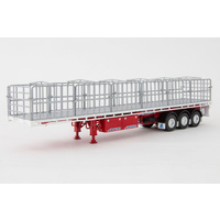 Flat Top Trailer - White & Red